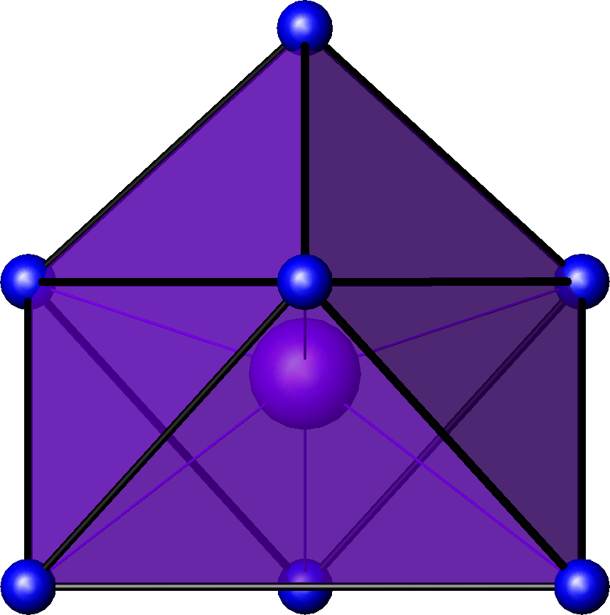 capped octahedral molecular geometry