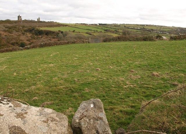 Field above Carn Brea village - geograph.org.uk - 1186343