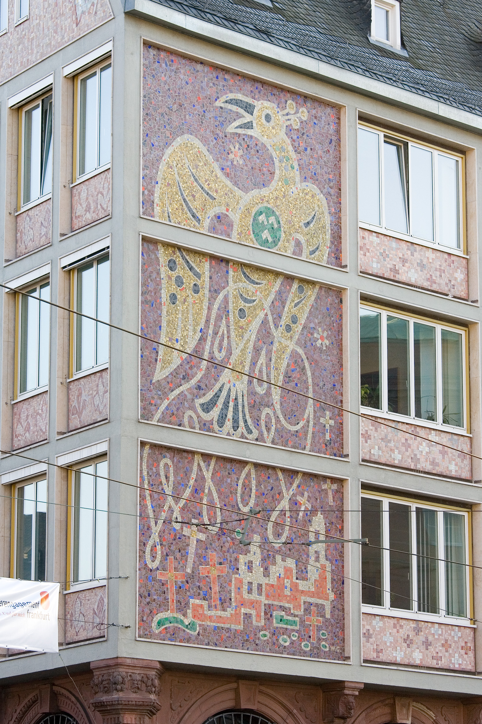 Mosaik Frankfurt file frankfurt am roemer salzhaus braubachstrasse mosaik detail