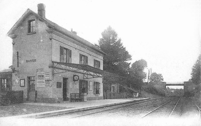 Tje Barisis's train station in 1900's before it's destruction during the first world war