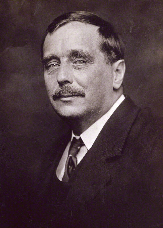 Depiction of H. G. Wells