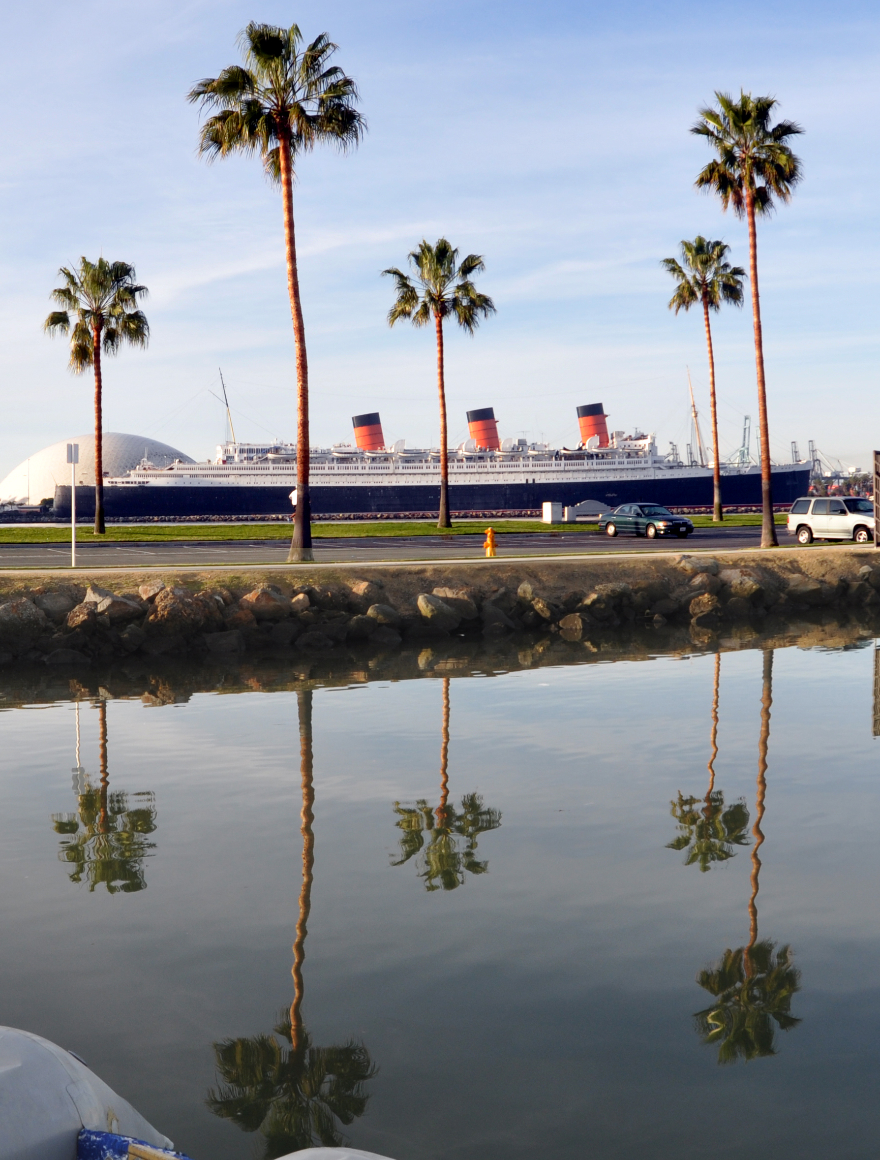 RMS Queen Mary in Long Beach Harbor