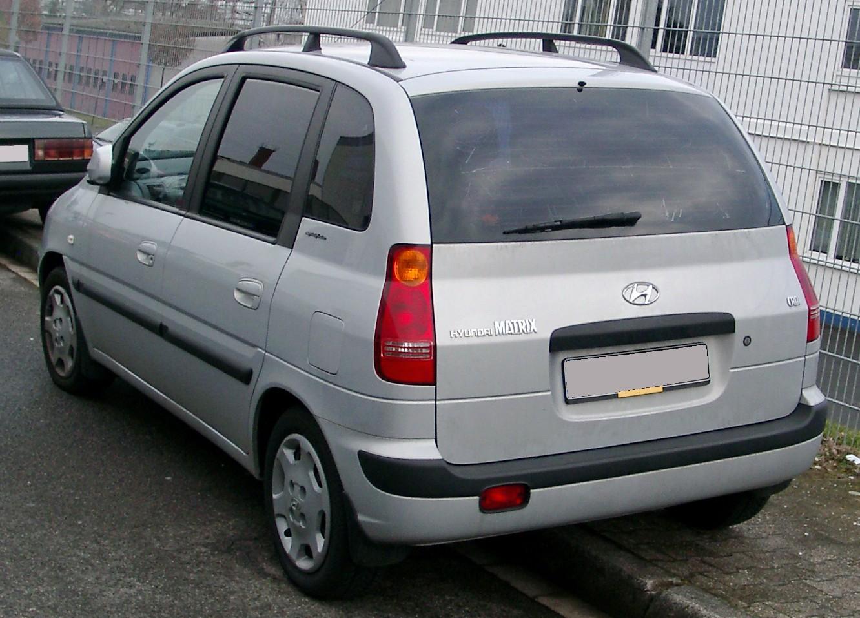 Hyundai hyundai matrix : File:Hyundai Matrix rear 20080225.jpg - Wikimedia Commons