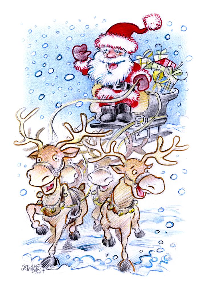 Fileillustration Pour Un Projet De Carte De Voeux à Noël