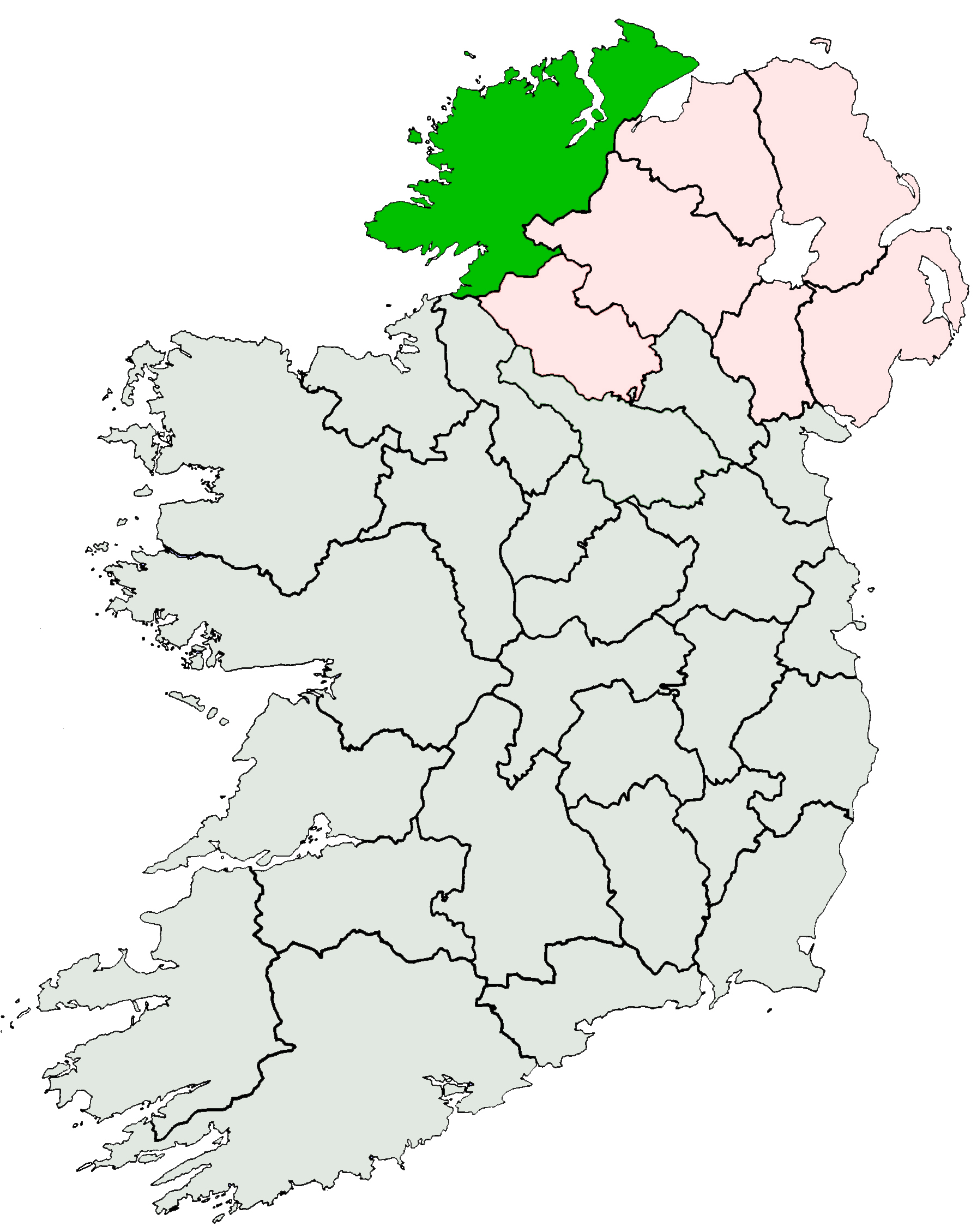 File:Ireland location Donegal.jpg - Wikimedia Commons