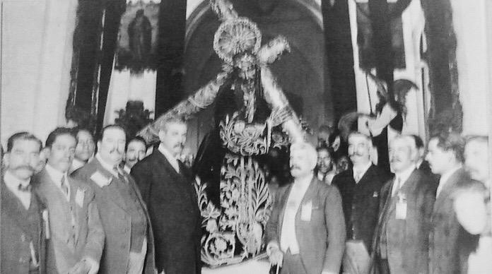 Jesus Nazareno de la Merced a principios del siglo XX.