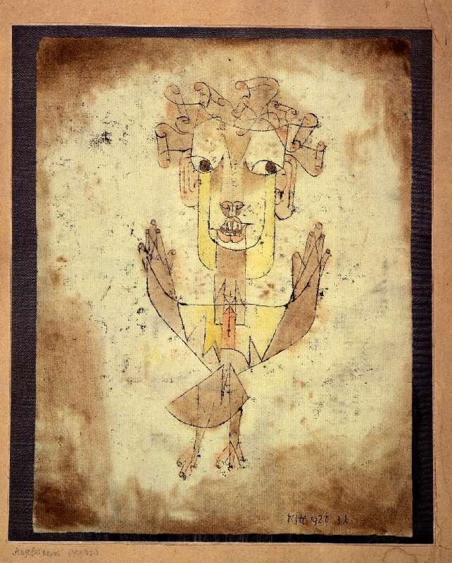 Paul Klee, Angelus Novus, 1920, CC BY-SA 3.0, via Wikimedia Commons