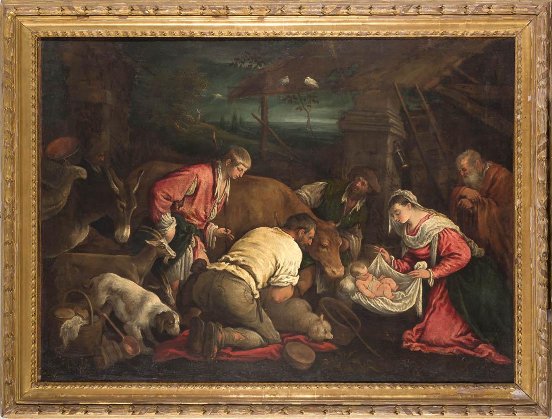 Leandro Bassano C Adorazione Dei Pastori