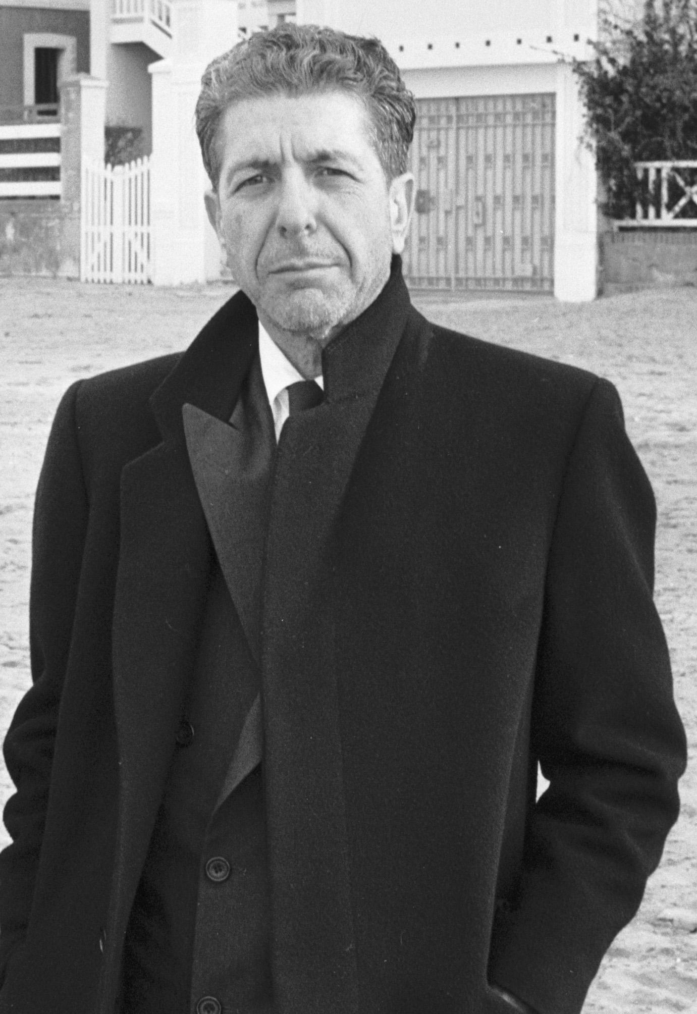 Leonard Cohen en 1988.