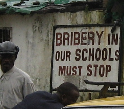 Sign from the African country of Liberia in 2004.