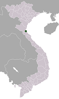 Location of the provincial city in Vietnam