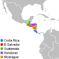 English: Locator map for Costa Rica, El Salvad...
