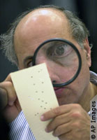 Looking for hanging chad, 2000 Presidential election