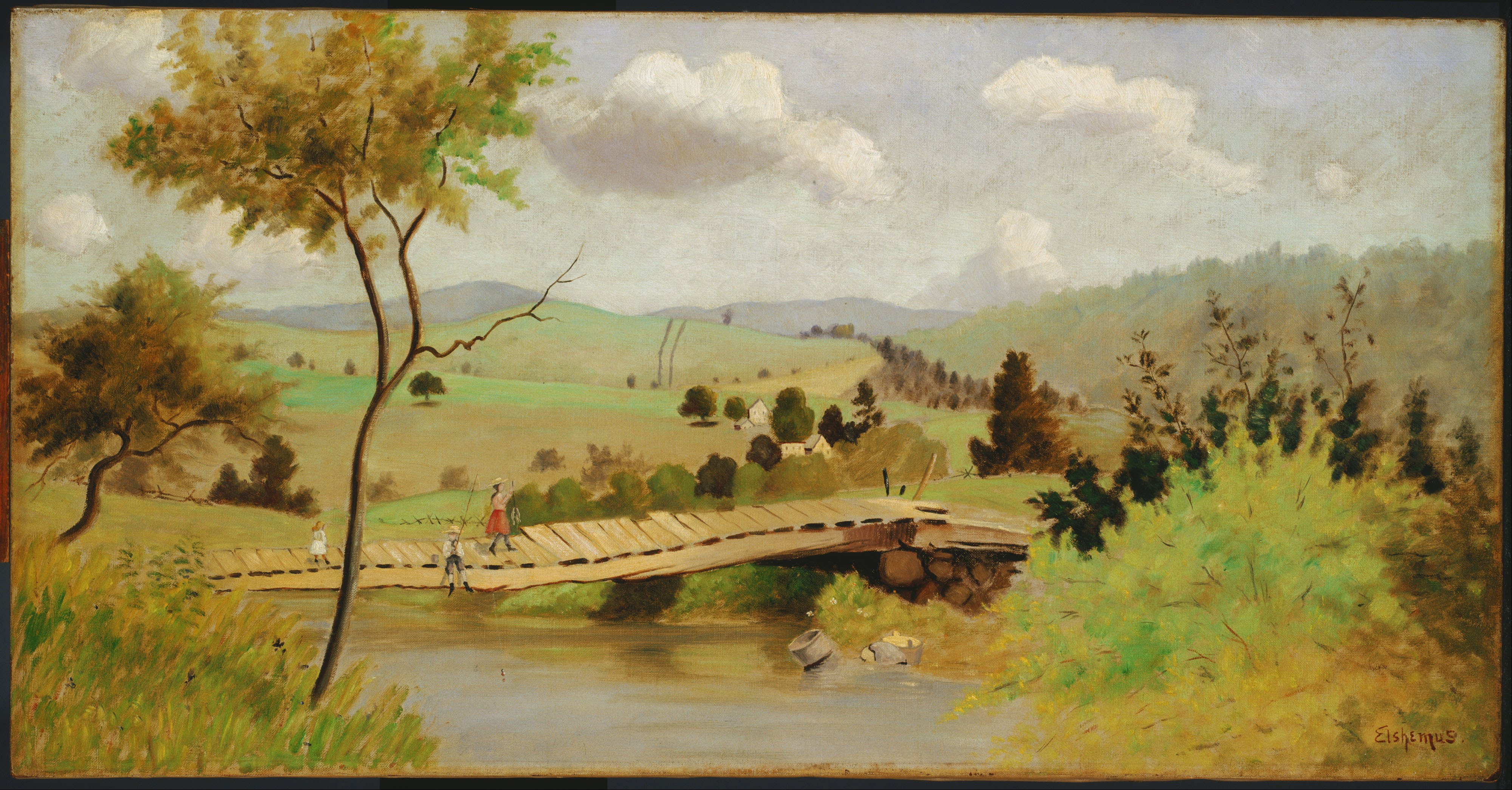 Omaž ribolovcu i ribolovu - Page 5 Louis_Michel_Eilshemius_-_Adirondacks-_Bridge_for_Fishing_-_Google_Art_Project