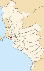 Расположение Пуэбло Либре в провинции Лима