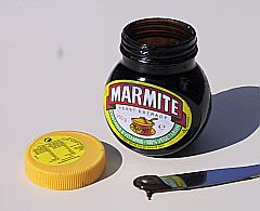 Marmite Brand of condiment made from yeast extract