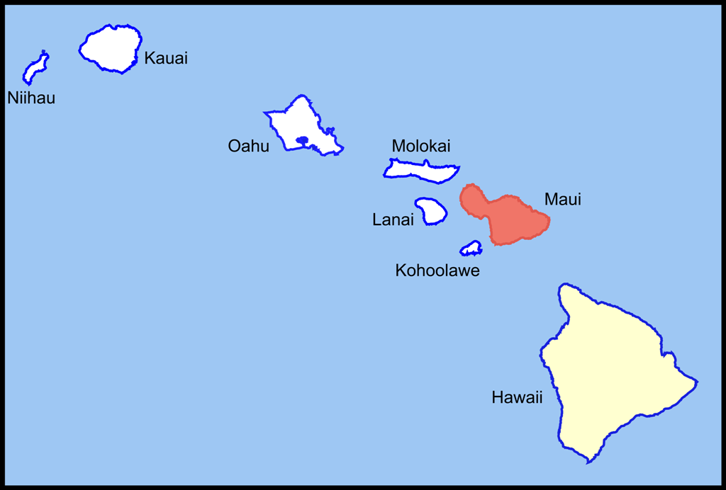 Location Of Hawaiian Islands On World Map