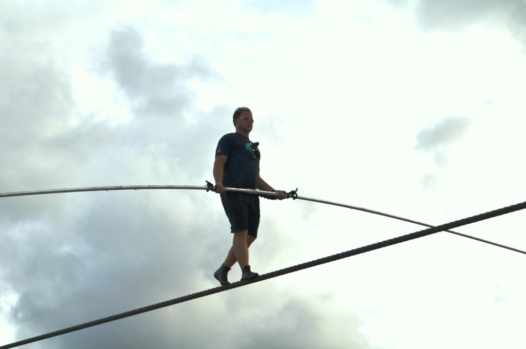 Image result for walking tightrope