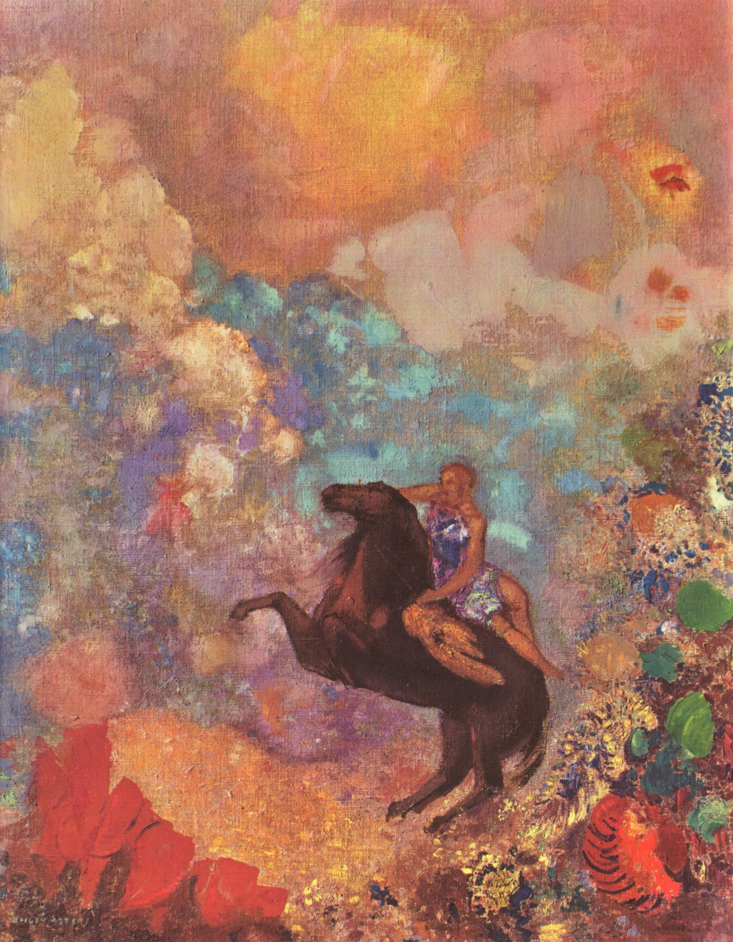 Painting is silent poetry odilon redon for Best mural artists