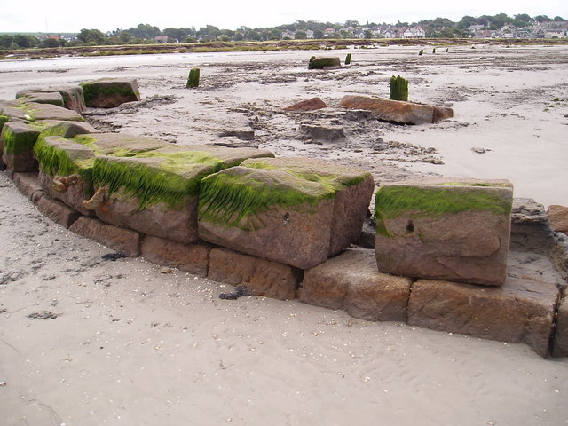 Old quay emerging from the sands of Morecambe Bay - geograph.org.uk - 339571