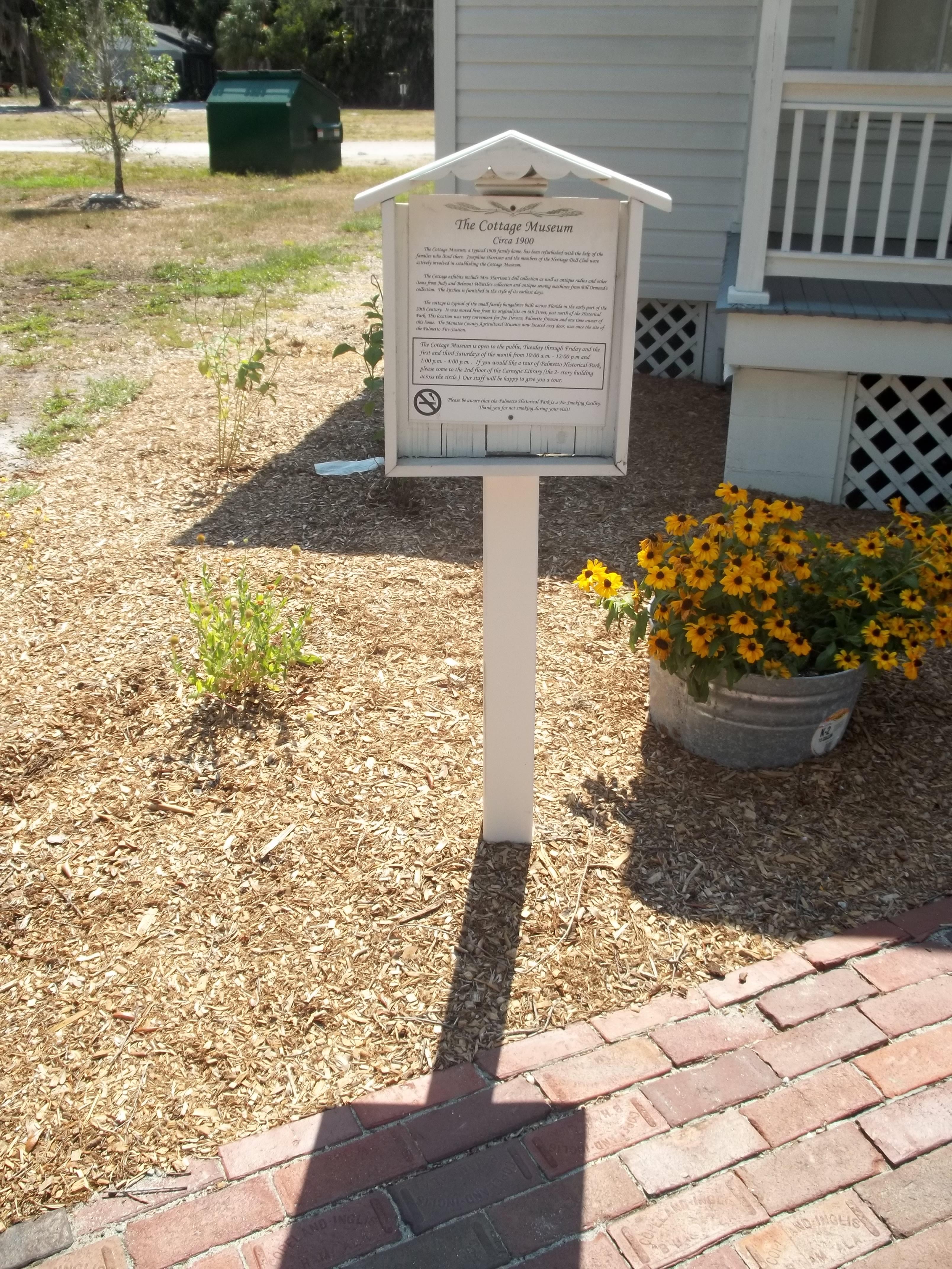 File:Palmetto FL HD Hist Park Cottage msm marker01 jpg - Wikimedia