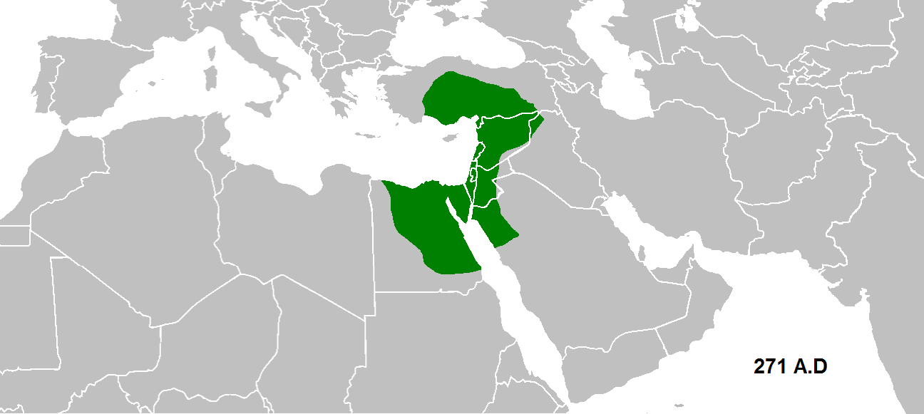 The Palmyrene empire in 271 AD