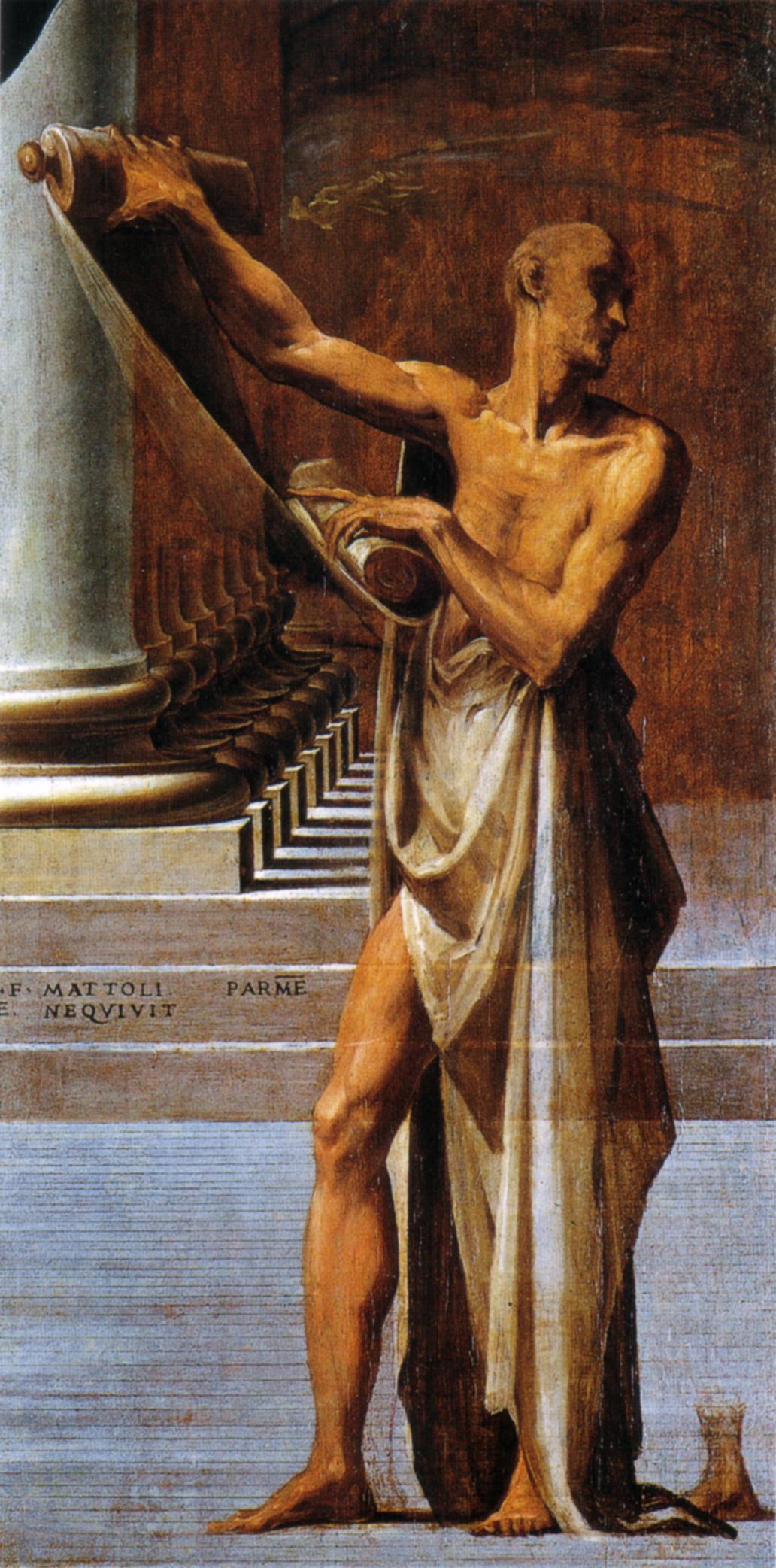 Madone au long cou, détail: saint Jérôme