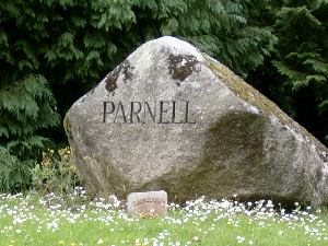 Parnell's grave in the predominantly Roman Catholic Glasnevin Cemetery in Dublin, alongside Eamon de Valera, Michael Collins and Daniel O'Connell.