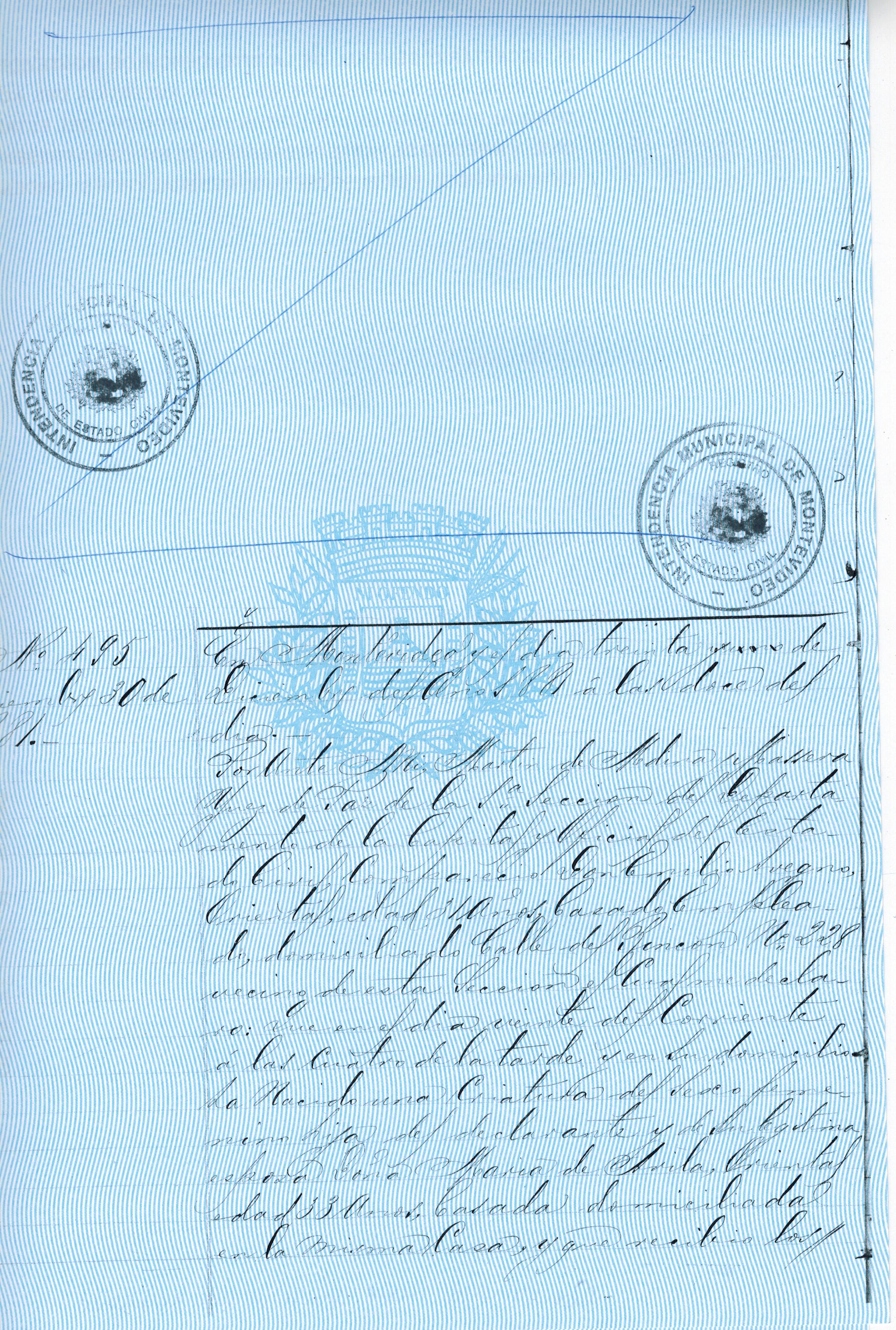 Archivo:Partida de nacimiento de Irma Avegno, página 1.jpg ...