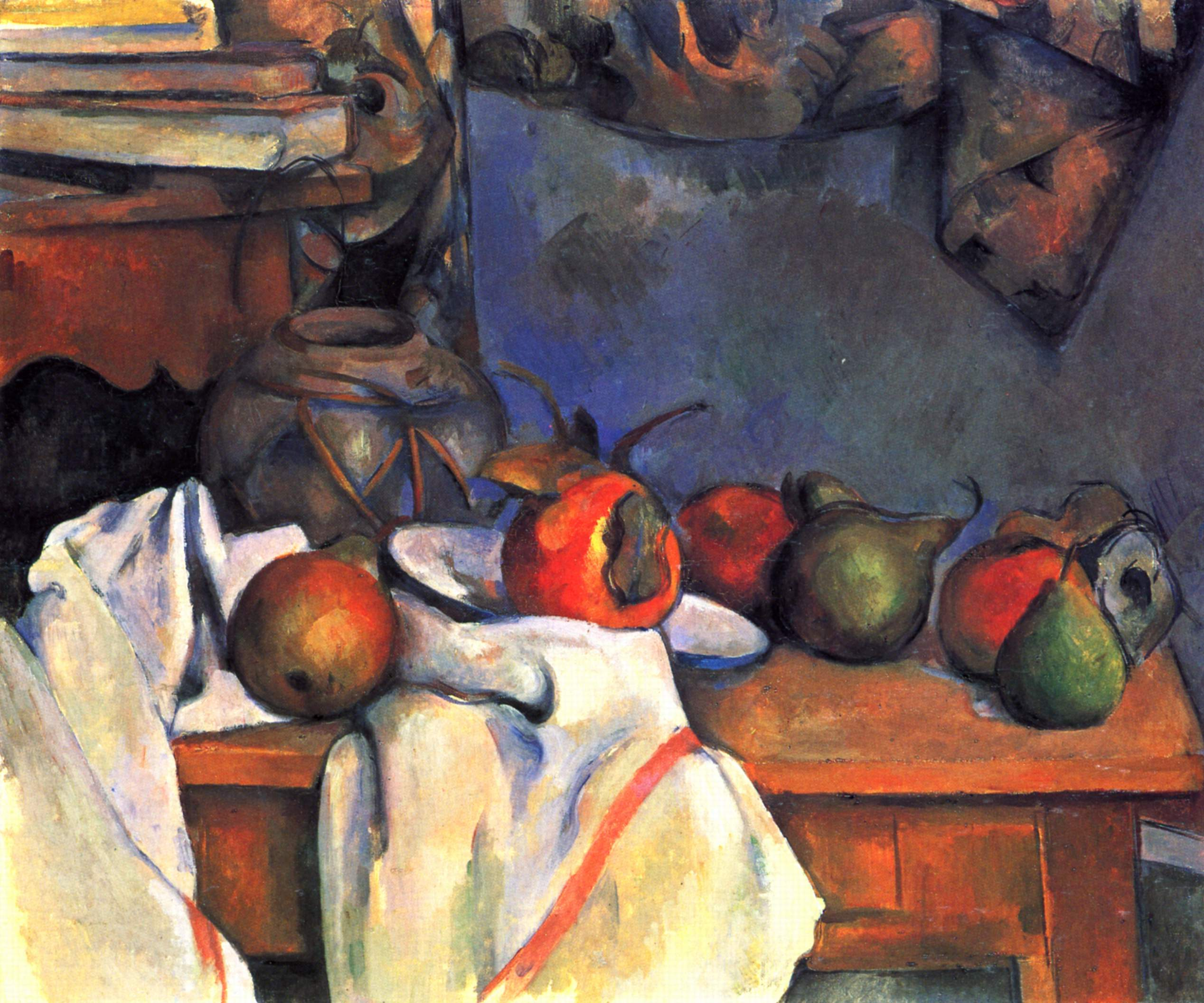 Image result for paul cezanne GINGER POT WITH POMEGRANATE AND PEARS