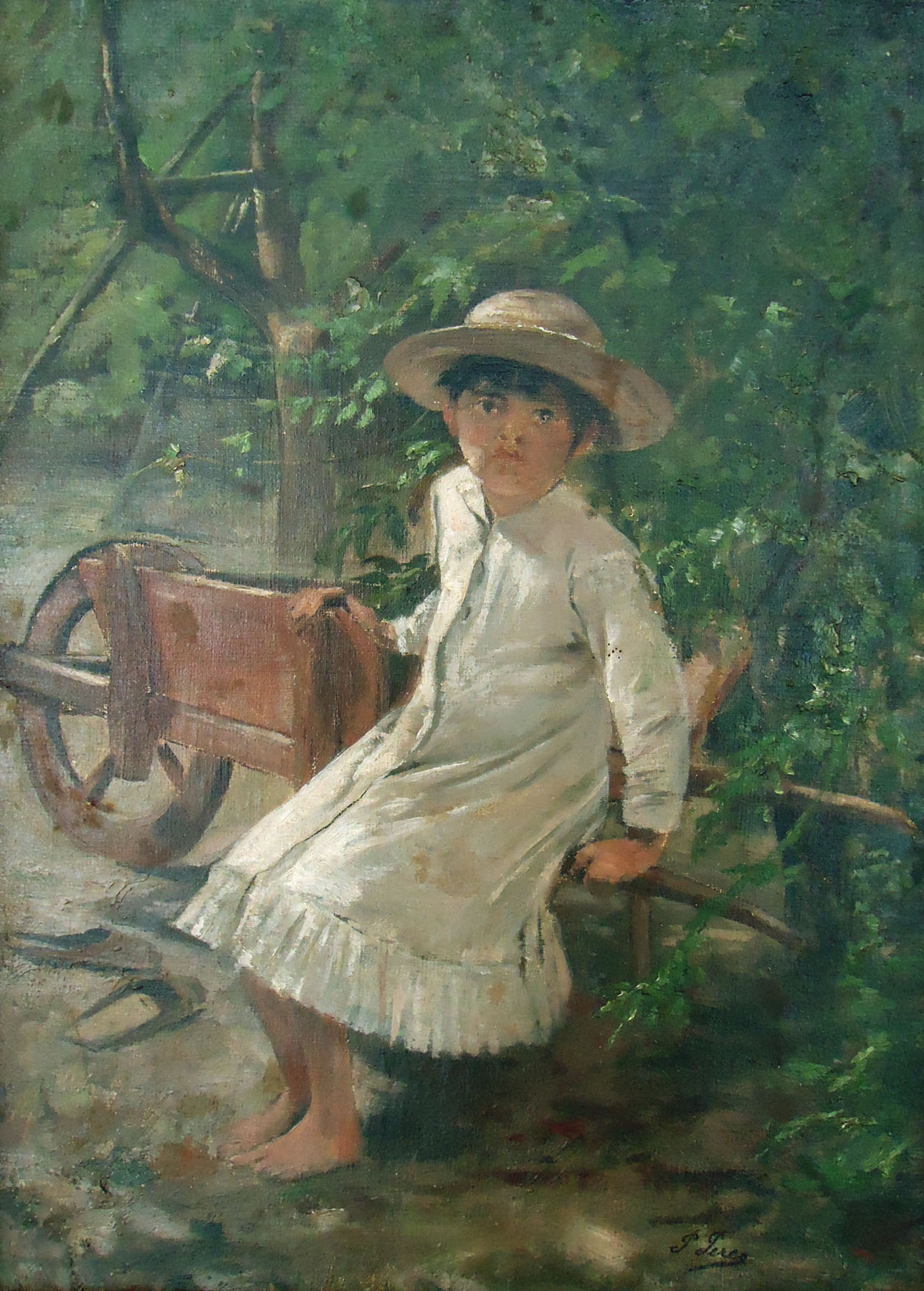 file pedro peres 1841 1923 child in the backyard probably