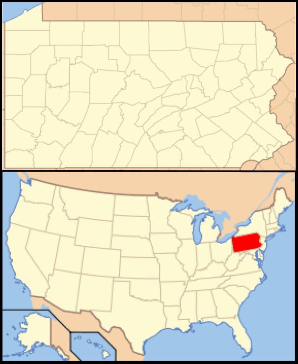 Maps Us Map Pennsylvania - Where is pennsylvania on us map