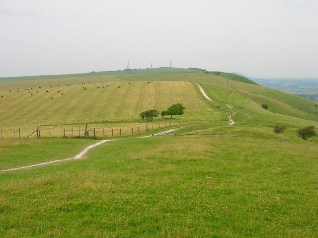 Perching Hill from Fulking Hill - geograph.org.uk - 495572