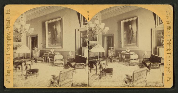 File Red Room Arthur S Portrait White House By Rau