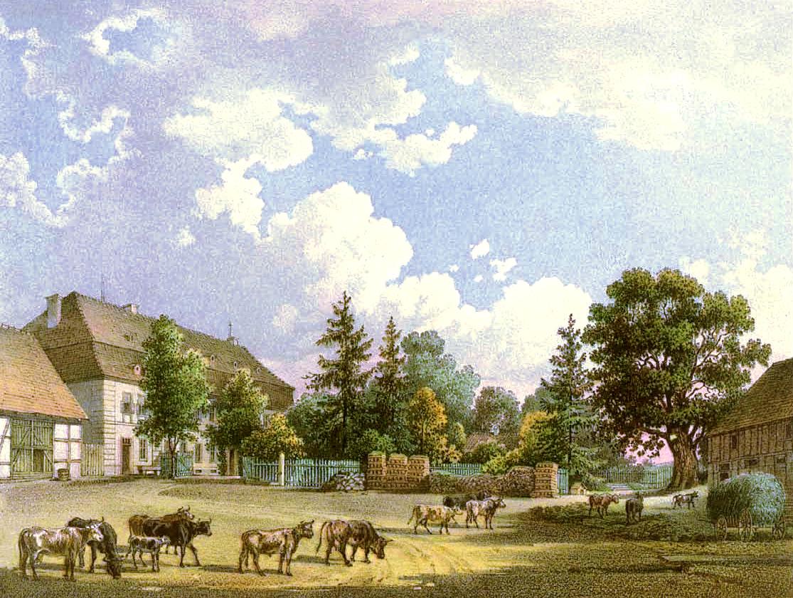 Gut Oswitz um 1860, Sammlung Alexander Duncker