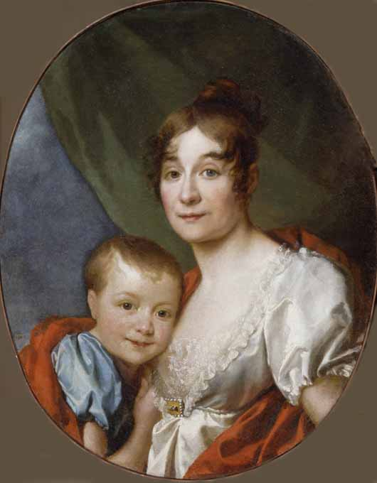 Portrait of Countess Shakhovskaya with Daughter