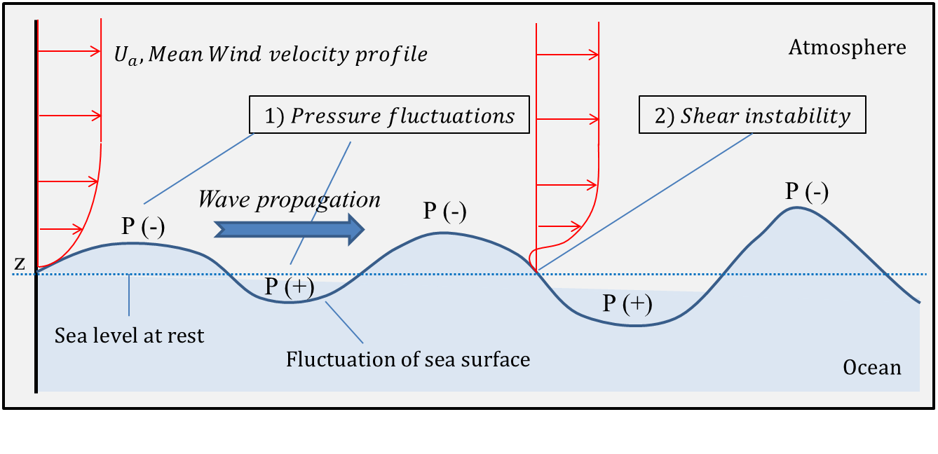 tsunami and wind generated waves vs Water in wind generated waves exibits circular motion most of this motion happens at or near the water surface actually, water stays almost at the same place, but the peaks of its motion are relayed in the form of waves this explains why these waves do not push on shore very far - water itself does not.