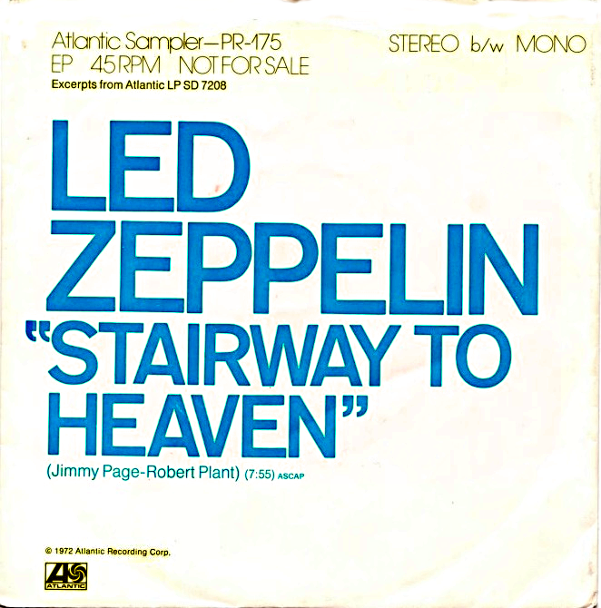 Stairway to Heaven by Led Zeppelin US promotional single.png