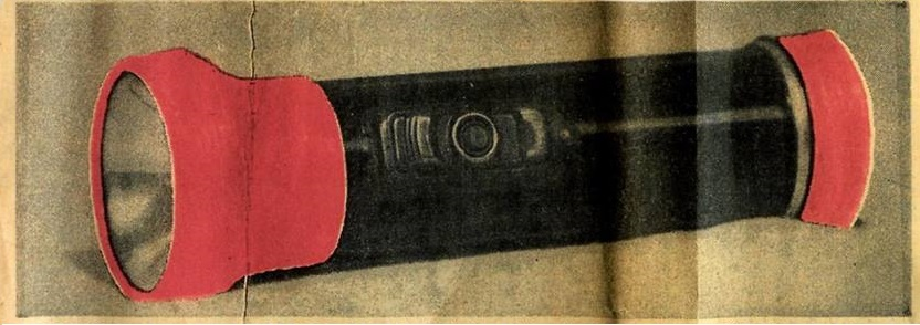 The spot-colored photograph of the flashlight in the Texarkana Gazette