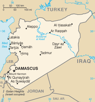 Syria, from the CIA's World Factbook