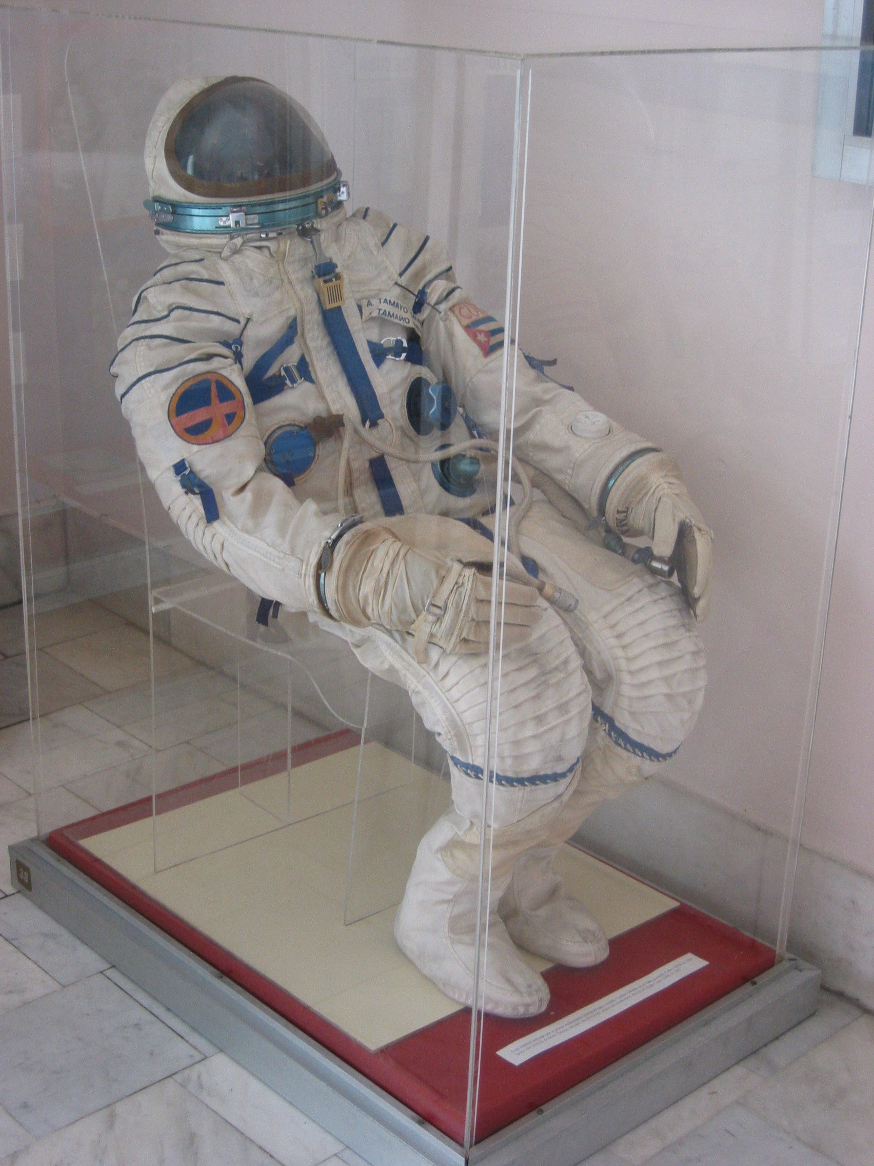 Arnaldo Tamayo's space suit, on display at Museo de la Revolución, Havana, Cuba