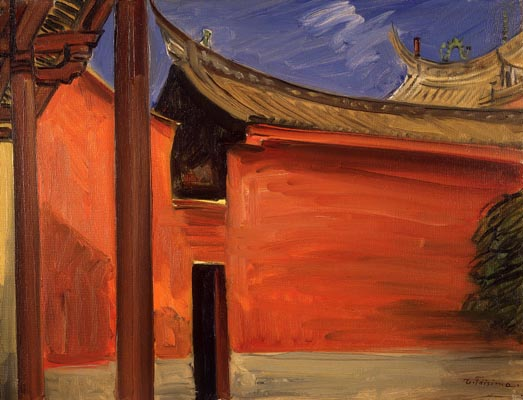 File:The Shrine of Confucius, Tainan, by Fujishima Takeji (National Museum of Modern Art, Tokyo).jpg