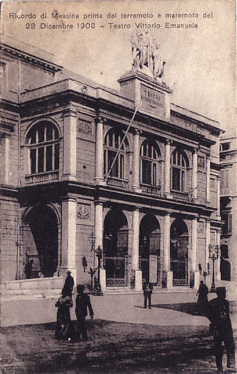 Teatro della Munizione, Messina (as known in the early 19th century) Theater Vittorio Emanuelle before 1908.jpg