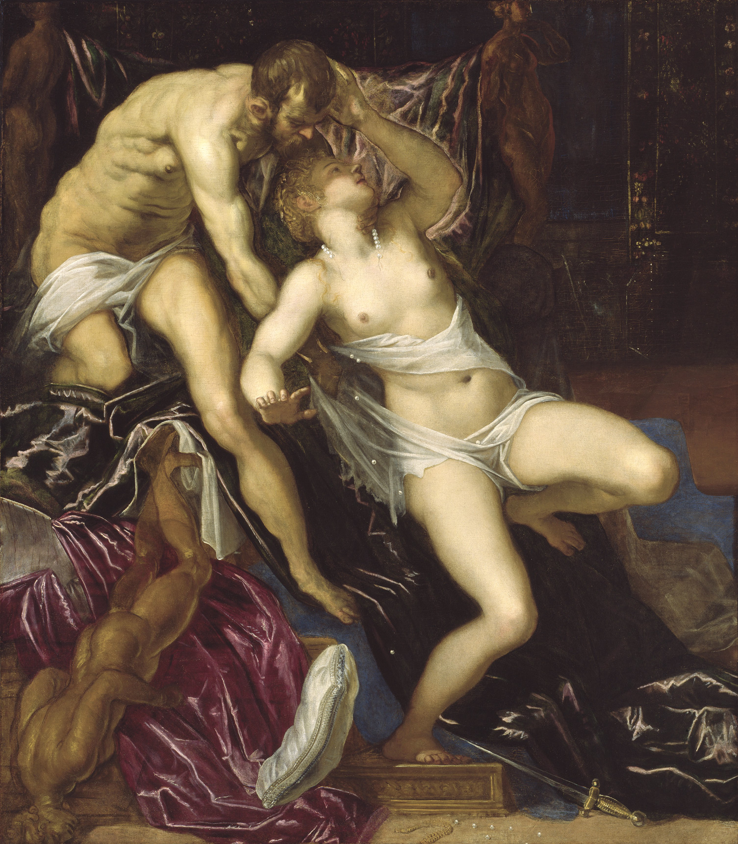 Tarquin and Lucretia, by Tintoretto