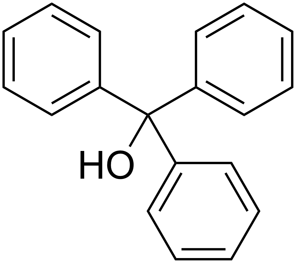synthesis of triphenylmethanol and the trityl carbocation Abstract the purpose of this lab was to use benzophenone and bromobenzene  to synthesize triphenylmethanol this was done via a grignard.