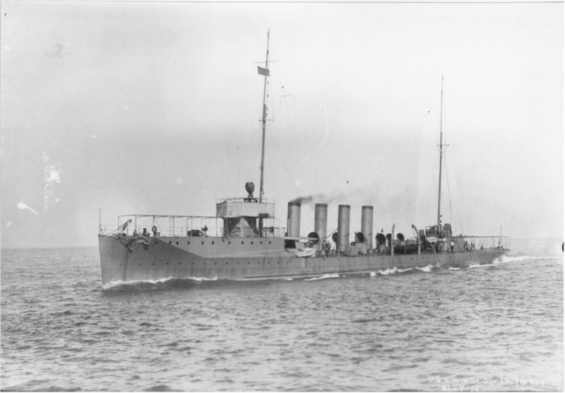 Winslow during trials in 1915