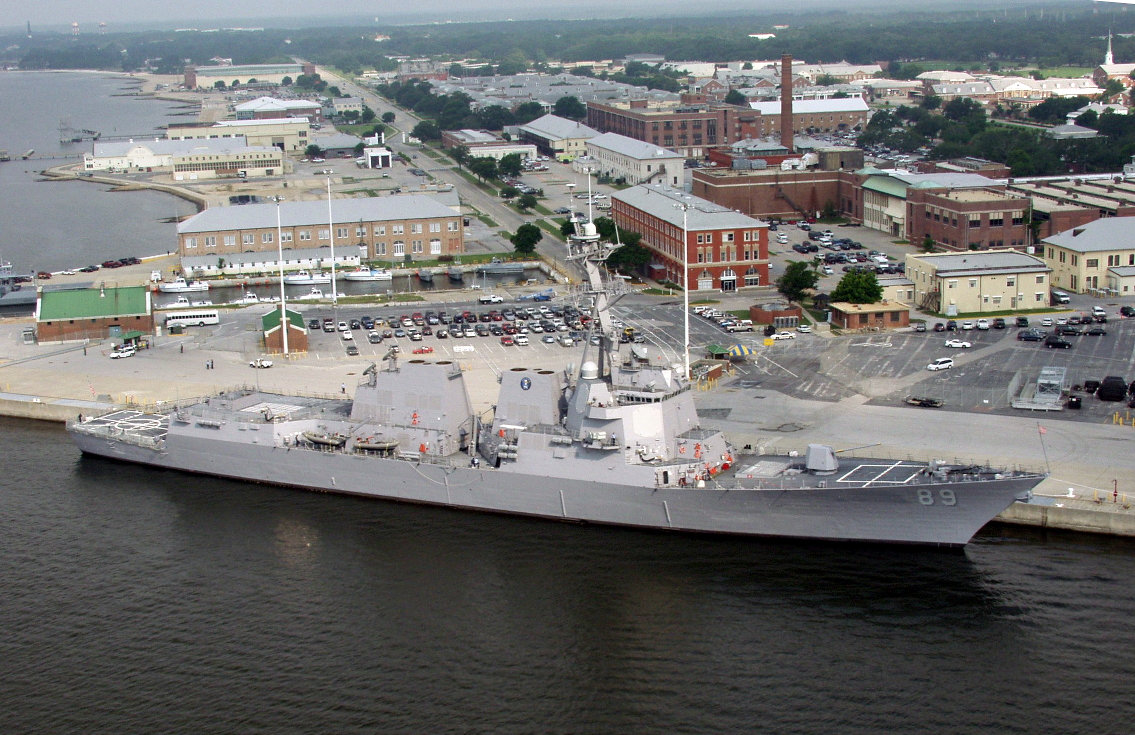 File Us Navy 030609 N 4039n 001 Pre Commissioning Unit Mustin Ddg 89 Is Berthed At The