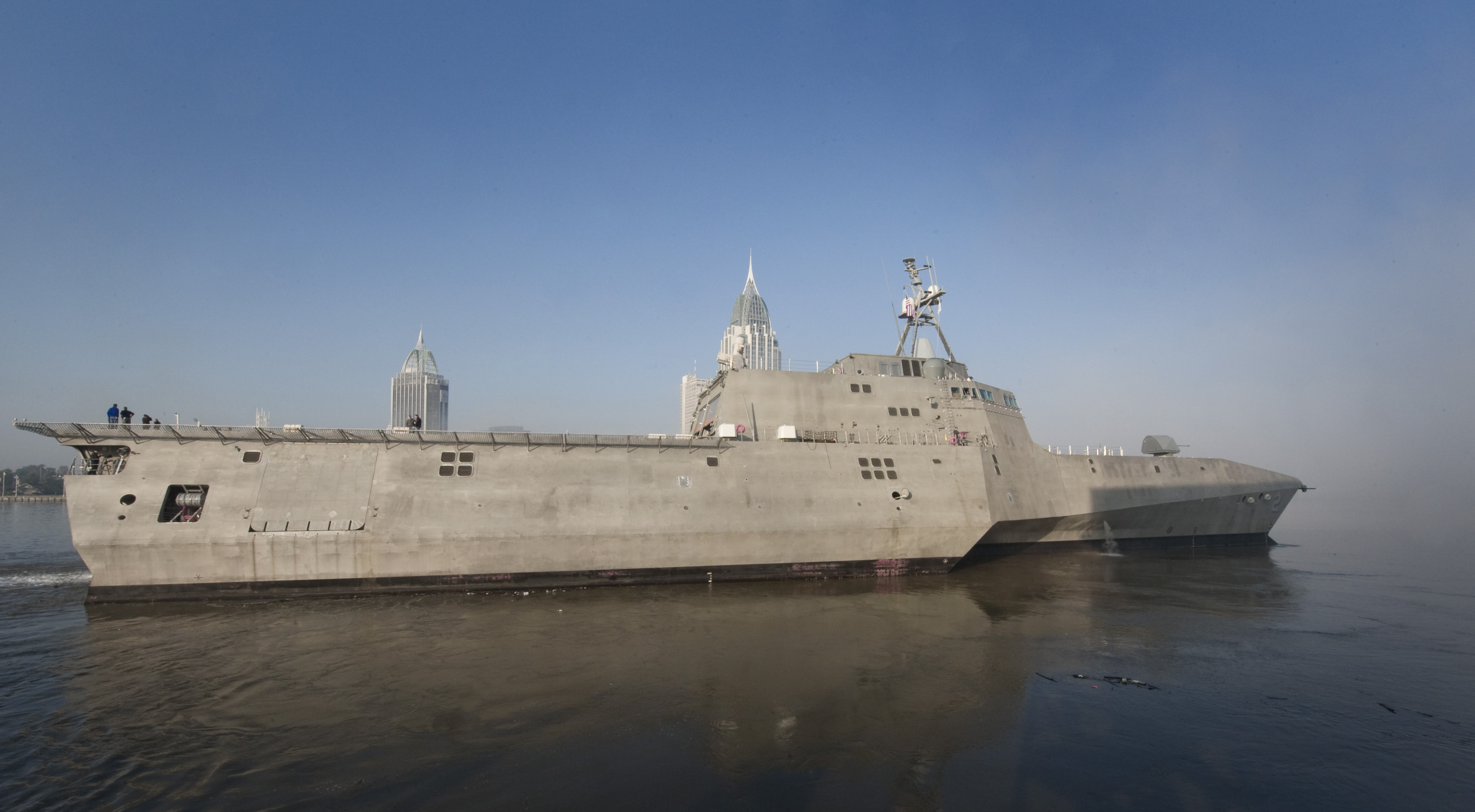 The U.S. Navy christened its latest littoral combat ship (LCS), the future USS Kansas City (LCS 22), during a ceremony at the Austal USA shipyard in Mobile, Alabama on September The ship.