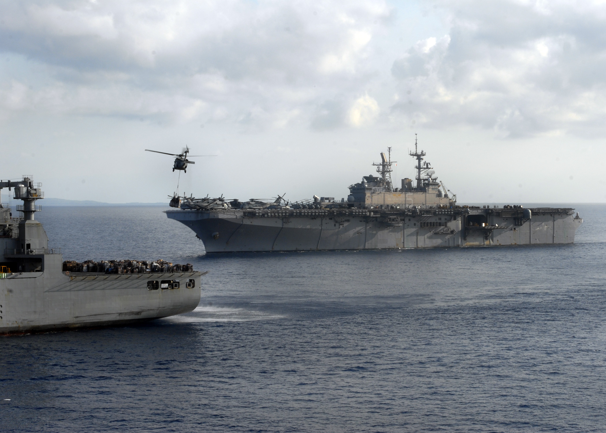 Replenishment Caribbean: File:US Navy 100220-N-2000D-063 The Military Sealift