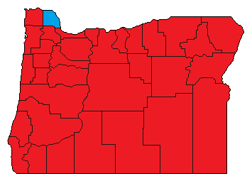 United States presidential election in Oregon County Results, 1952.png